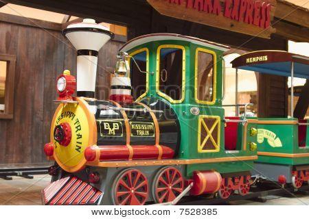 Child Train Ride in Amusement Park