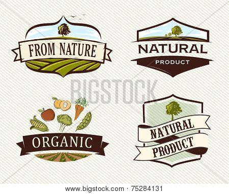 Vintage & Retro Organic Badges