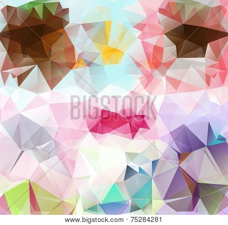 Triangle background. Pattern of geometric shapes