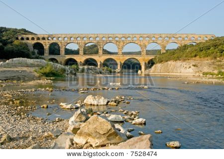 Reflection of Pont du Gard
