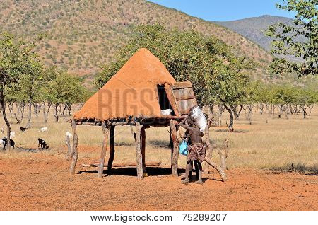 Ovahimba Food Storage Room On Stilts