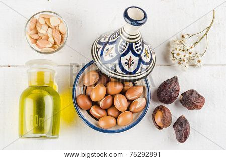 Argan Fruit In A Moroccan Tajine