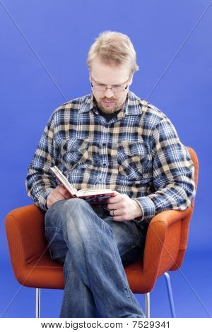 Man Reads Book