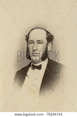 CANADA - CIRCA 1900s: Vintage photo shows studio portrait of a man.