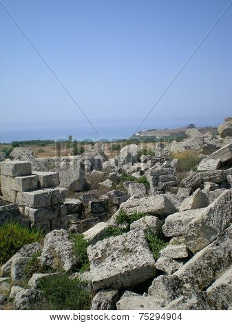 The antique ruins of Sicily in Selinunt