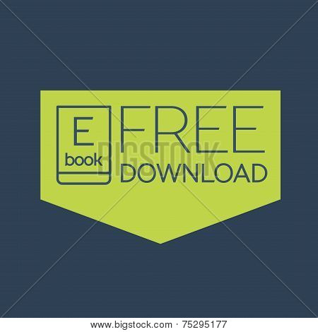 Flat Ebook free download icon
