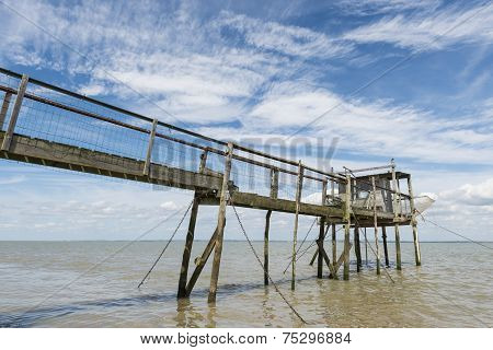 Jetty And House For Fishing  Gironde