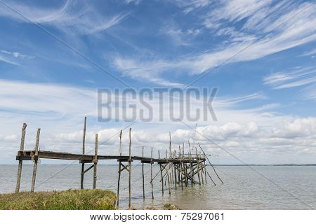 Jetty For Fishing In Gironde