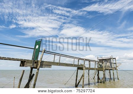 Jetty With Door For Fishing  Gironde