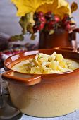 picture of eat me  - Thick white soup with pasta and vegetables - JPG