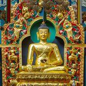 foto of karnataka  - Golden temple in the Namdroling Monastery in Bylakuppe - JPG