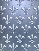 picture of fleur de lis  - A luxurious background image done in metallics featuring an elegant fleur de lis pattern - JPG