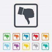 pic of dislike  - Dislike sign icon - JPG