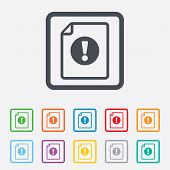 pic of hazard symbol  - File attention sign icon - JPG