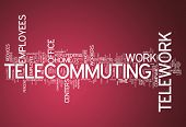 picture of telecommuting  - Word Cloud Image Graphic with Telecommuting related tags - JPG