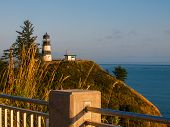 picture of coast guard  - Cape Disappointment Lighthouse at Sunset on the Washington Coast USA - JPG