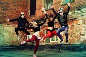 pic of rapper  - Modern dancers dancing on the street - JPG