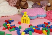 image of teepee tent  - Toys for pretend play with stuffed bears - JPG
