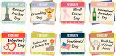 picture of groundhog day  - Sheets of a calendar - JPG