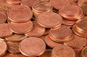 stock photo of copper coins  - Close up of full coins copper group - JPG