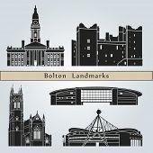 Постер, плакат: Bolton Landmarks And Monuments