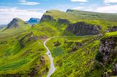 image of landslide  - An amazing landscape on the Isle of Skye in Scotland