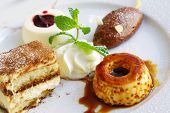 picture of fancy mouse  - Assorted delicious desserts in a single plate - JPG