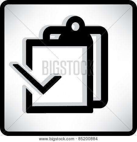 Blank paper. Flat modern web button.