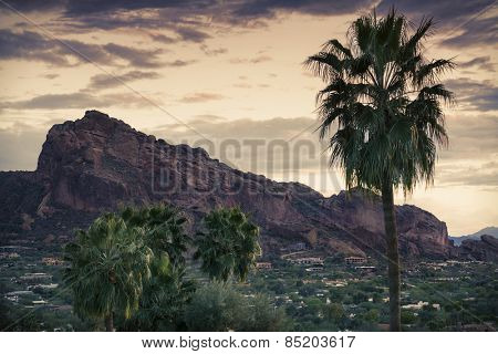 Camelback Mountain, valley canyon resort destination area, Phoenix,AZ,USA