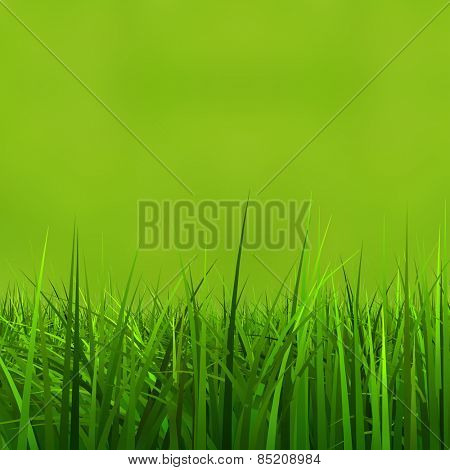Concept or conceptual green, fresh and natural 3d grass field or lawn on green background in spring or summer metaphor to nature, environment, sport, soccer, golf, agriculture, eco or garden designs