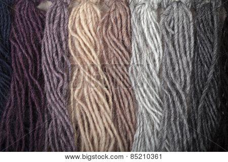 Yarn thread samples color card