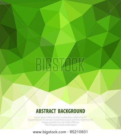 vector abstract green background with mosaic for business