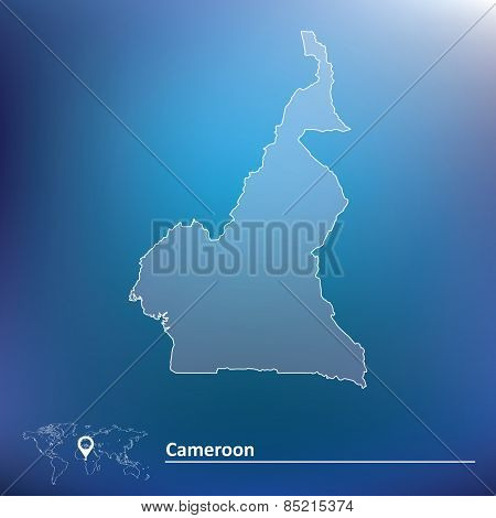Map of Cameroon - vector illustration
