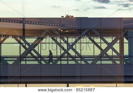 Stairways at an international airport