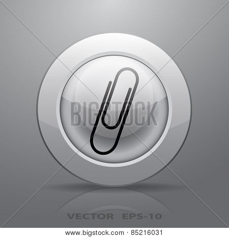 Paperclip icon, vector illustration