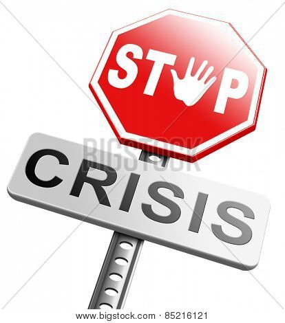 stop crisis recession and inflation economic and bank downfall stock market crash