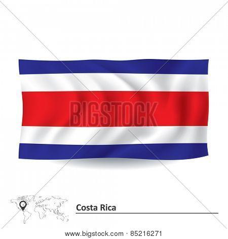 Flag of Costa Rica - vector illustration