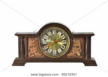 Vintage, Antique Old Clock Isolated