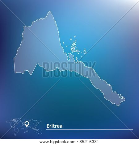Map of Eritrea - vector illustration