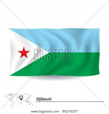 Flag of Djibouti - vector illustration