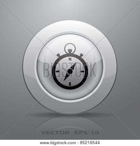 Stopwatch icon, vector illustration