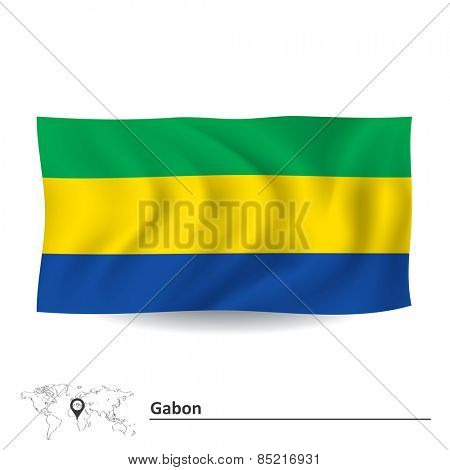 Flag of Gabon - vector illustration