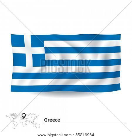 Flag of Greece - vector illustration