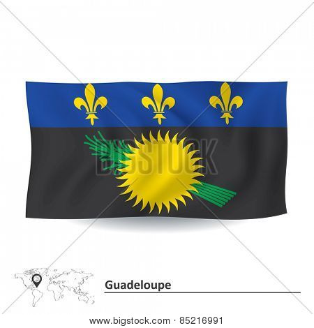 Flag of Guadeloupe - vector illustration