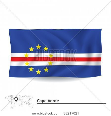 Flag of Cape Verde - vector illustration