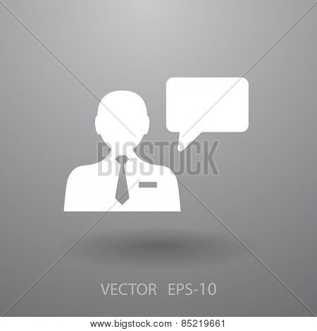 Flat icon of support