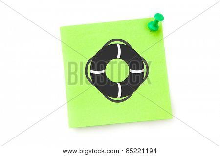 Safety ring against green adhesive note