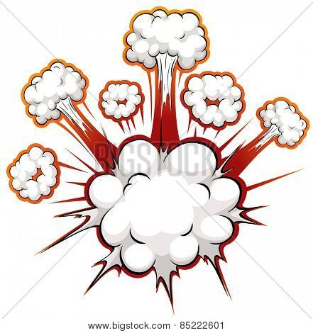 Close up white clouds explosion