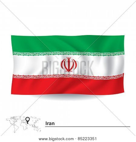 Flag of Iran - vector illustration