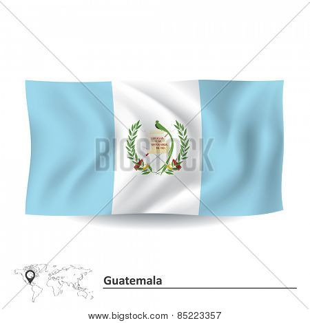 Flag of Guatemala - vector illustration